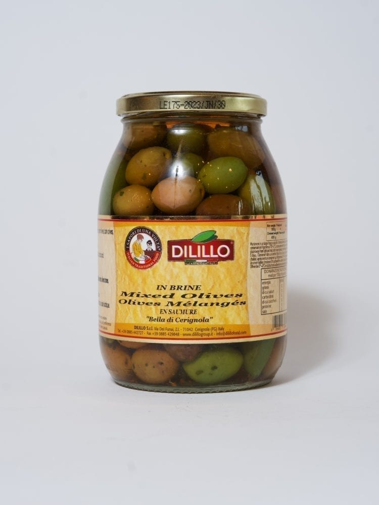 DILILLO - TRIO OF OLIVES IN BRINE - 950g