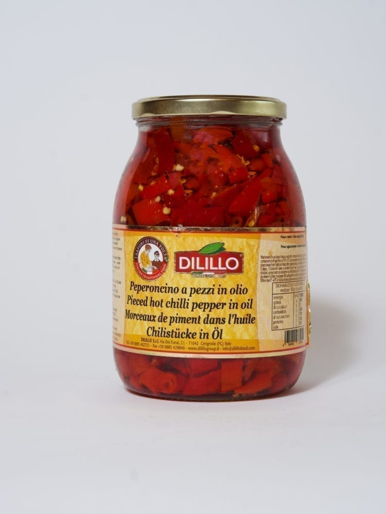 DILILLO PIECED HOT CHILI PEPPER IN OIL - 950g
