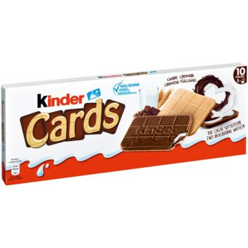 NUTELLA KINDER Cards Wafer Biscuit with Creamy Milk and Cocoa Filling