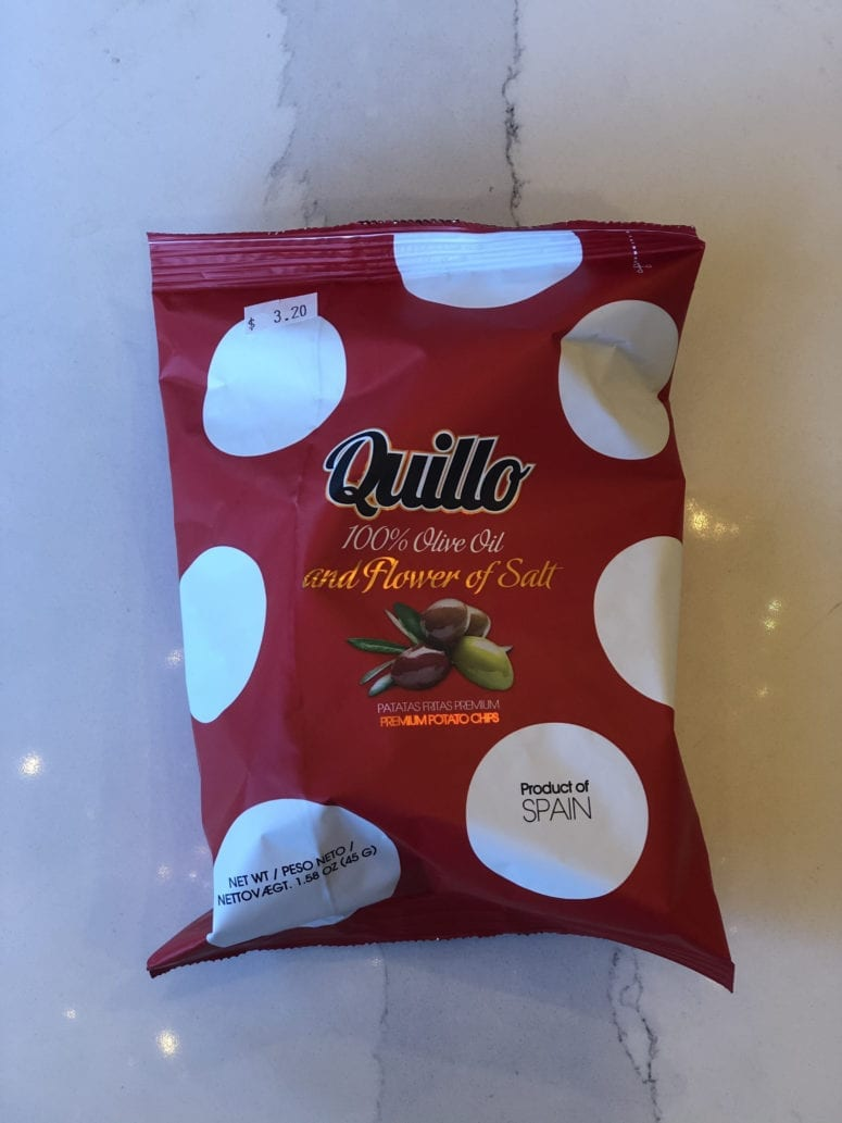 100% OLIVE OIL AND FLOWER OF SALT CHIPS - QUILLO - 45G