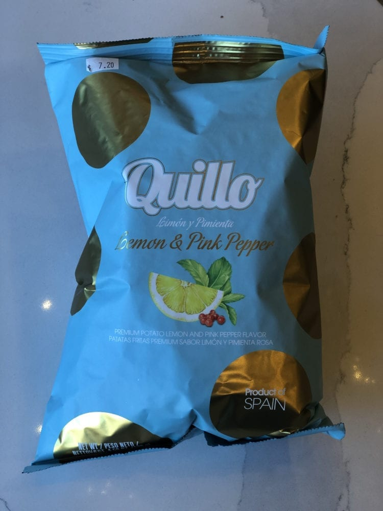 LEMON & PINK PEPPER CHIPS - QUILLO - 130G
